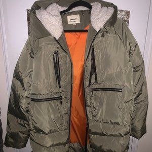 Orolay Womens Down Jacket Green Olive size XXL